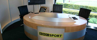 BBC Sport, Golf studio constructed within 40ft expanding trailer